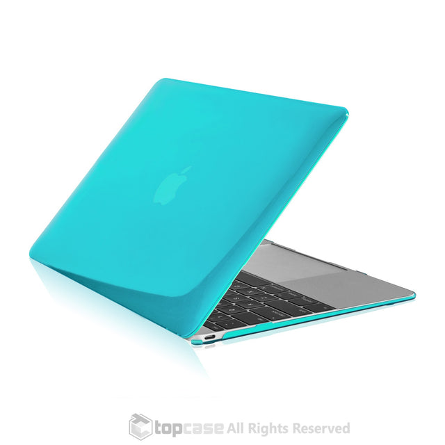 "Apple the New Macbook 12-Inch 12"" Retina Display Laptop Computer Hot Blue / Turquoise Crystal Hard Shell Case Cover for Model A1534 - TOP CASE"