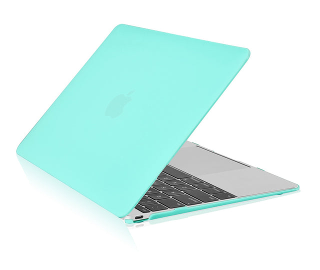 "Apple the New Macbook 12-Inch 12"" Retina Display Laptop Computer Hot Blue / Turquoise Rubberized Hard Shell Case Cover for Model A1534 - TOP CASE"