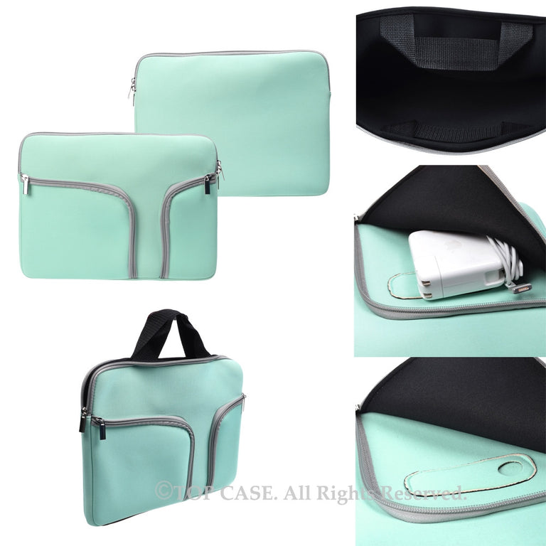 "Zipper Hot Blue Sleeve Bag Cover with Handle and Pockets / Compartments for Macbook 12"" 12-Inch Model: A1534 Retina Noteboook"