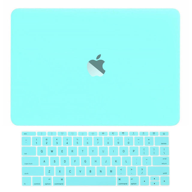 Macbook Pro 13 WITHOUT Touch Bar (2016 Release) 2 in 1 Bundle, Rubberized Matte Hard Case Cover + Keyboard Cover for MacBook Pro 13-inch A1708 without Touch Bar - Hot Blue / Turquoise