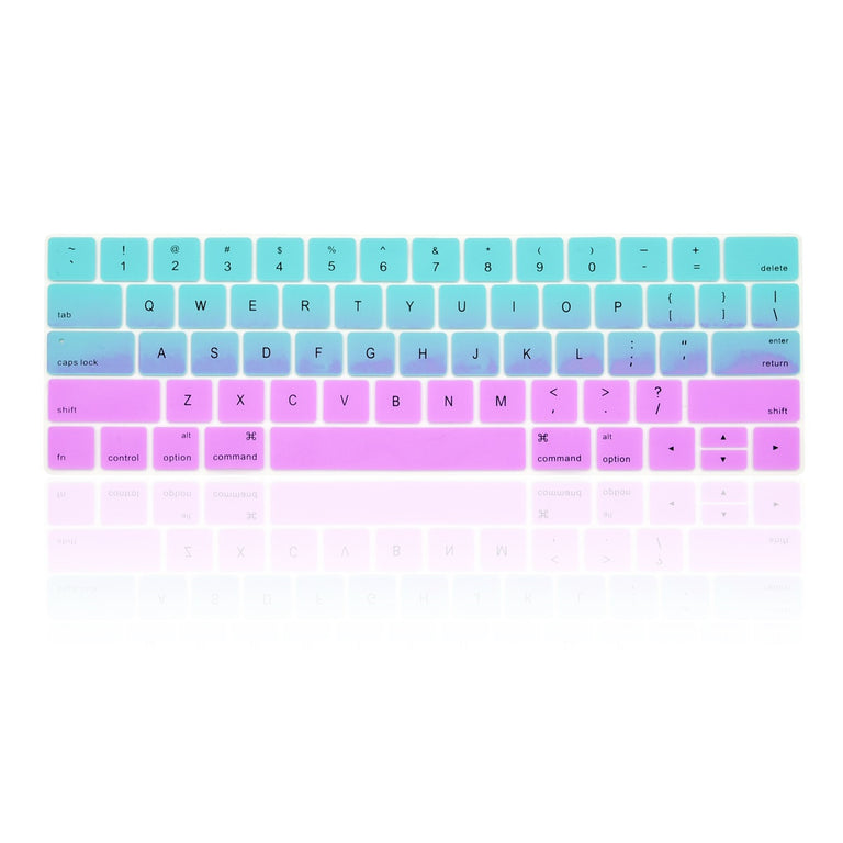 """HOT BLUE/&PURPLE Keyboard Skin for Macbook Pro 13/""""15/"""" With Touch Bar-RELEASE 2016"""