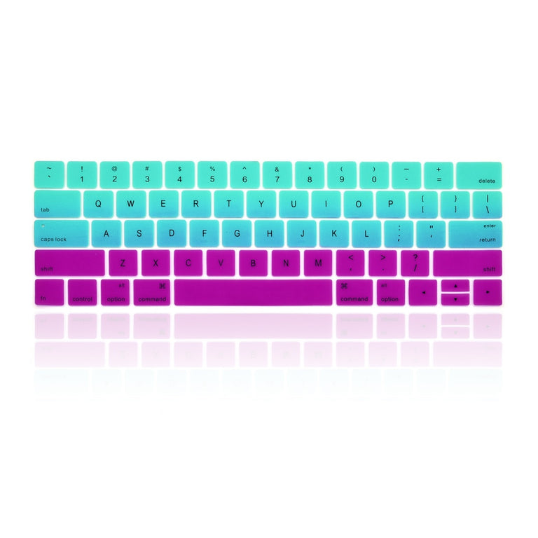 "Faded Ombre Silicone Keyboard Cover Skin for Macbook Pro 13"" 15"" WITH Touch Bar A1706 / A1707 /A1990/A1998 (2016/17/18 Release) - Hot Blue & Purple"