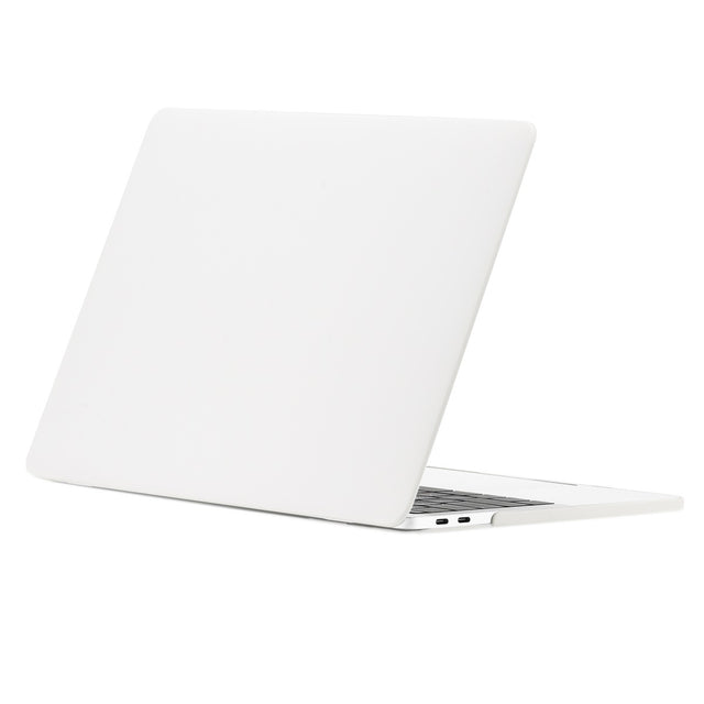 TOP CASE - Rubberized Matte Hard Case Cover for MacBook Pro 15-inch Model A1707/A1990 with Touch Bar ( Release 2016/17/18 ) - Stain White