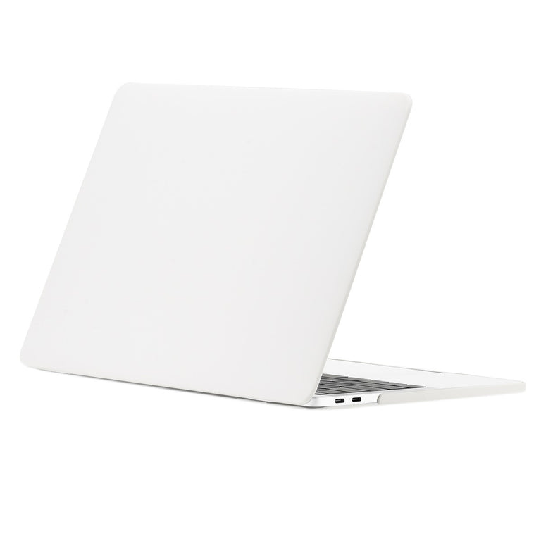 2 in 1 Bundle, Rubberized Matte Hard Case Cover + Matching Color Keyboard Cover for MacBook Pro 15-inch A1707/A1990 with Touch Bar ( Release 2016/17/18 ) - Satin White