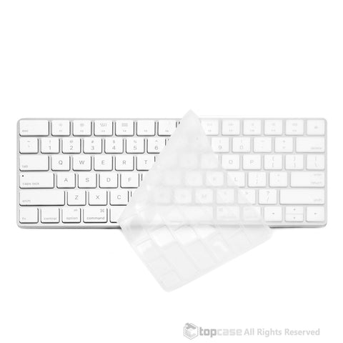 Apple Magic Keyboard Clear Ultra Thin Soft Silicone Keyboard Cover Skin for Magic Keyboard MLA22LL/A US Keyboard Layout - TOP CASE