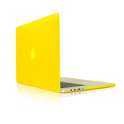 "YELLOW Rubberized Hard Case Cover for MacBook Pro 13"" (13"" Diagonally) with Retina Display (Old Gen. 2012-2015) Model: A1425 and A1502"