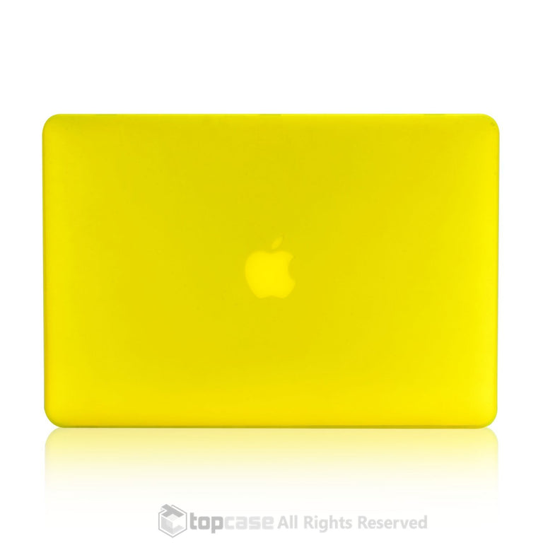 "Rubberized Yellow Hard Case for Macbook Air 13"" A1369 and A1466"