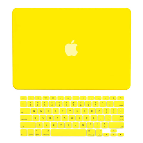 "TOP CASE 2 in 1 - Macbook Air 13""  Rubberized Case Cover + Keyboard Cover - Yellow"
