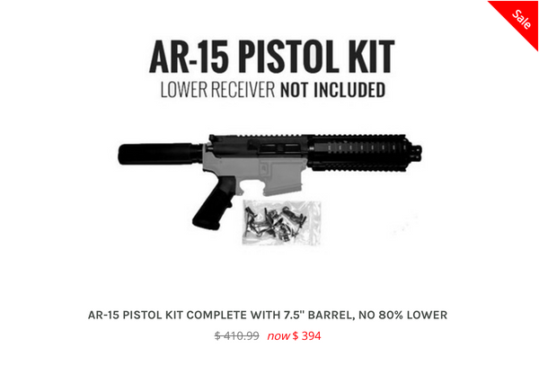 AR15 Kits without Lower, 80% Lower