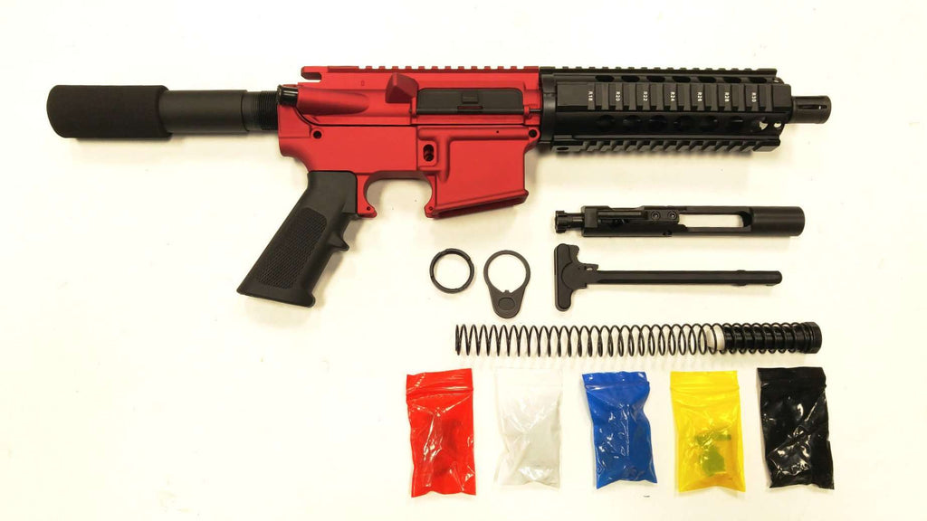 Ar 15 pistol kit assembly 75 stainless barrel 7quad rail 80 lower solutioingenieria Image collections