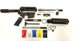 "AR-15 Pistol KIT Assembly 7.5"" Stainless Barrel, 7""Quad Rail 80% Lower- Auction / Not Assembled"