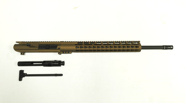 .308 Cerakote Burnt Bronze Upper Assembly, Burnt Bronze  Keymod Rail / Assembled