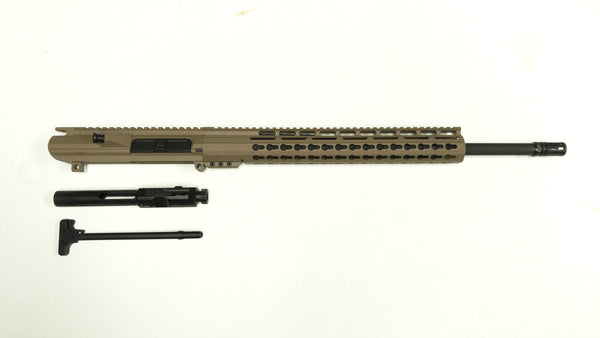 .308 Cerakote FDE Upper Assembly, and FDE Keymod Rail / Assembled