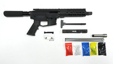 "9 MM Pistol Kit, 7.5"" Phosphate Barrel, 7"" Keymod Rail with 80% Lower"