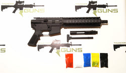".300 Blackout Pistol Kit Assembly 10.5"" Stainless Barrel, 10"" Quad Rail 80% Lower Receiver ( No Buffer Tube Assembly)"