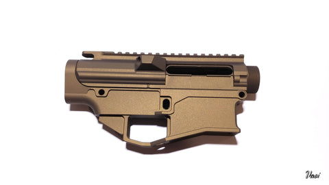 .308 80% Lower GEN2 Billet and  Upper Receiver Set - Cerakote Burnt Bronze