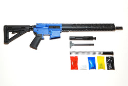 "AR-15 Cerakote Blue Rifle Kit  16"" Stainless Barrel 15"" Keymod Rail Handguard with 80% Lower/ Black Magpul Moe Stock / Black Magpul Moe Grip /- Assembled"