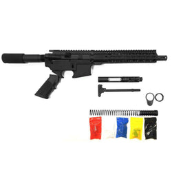 ".300 Blackout Pistol Kit Assembly 10.5"" Phosphate Barrel, 10"" Keymod Rail 80% Lower Receiver"