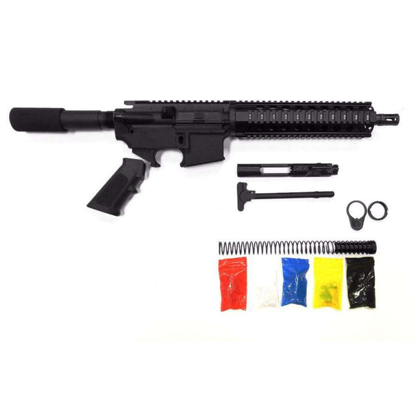 ".300 Blackout Pistol Kit Assembly 10.5"" Stainless Barrel, 10"" Quad Rail 80% Lower Receiver"