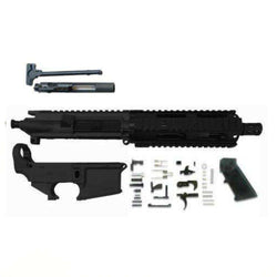 "AR-15 Pistol KIT Assembly 7.5"" Stainless Barrel, 7""Quad Rail 80% Lower (No Buffer Tube Assembly)"