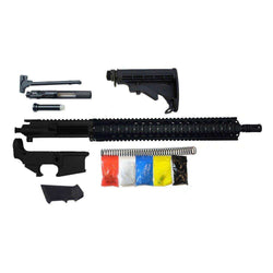 "AR-15 Rifle Kit, 16"" Phosphate Barrel 15"" Quad Rail, With 80% Lower"
