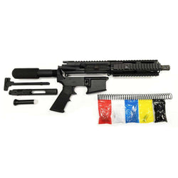 "AR-15 Pistol KIT Assembly 7.5"" Stainless Barrel, 7""Quad Rail 80% Lower"