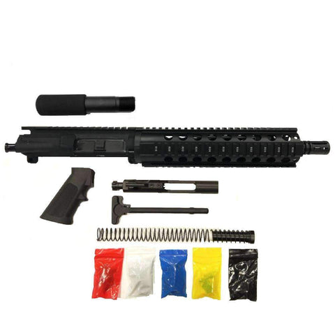 "AR-15 Pistol Kit Assembly 10.5""Phosphate Barrel, 10"" Quad Rail, (NO LOWER)"