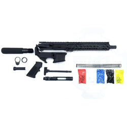 "AR-15 Pistol Kit Assembly 10.5"" Phosphate  Barrel, 10"" Keymod Rail, 80% Lower"