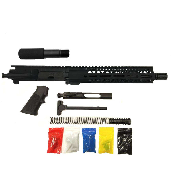 "AR-15 Pistol Kit Assembly 10.5""Phosphate Barrel, 10"" Keymod Rail, (NO LOWER)"