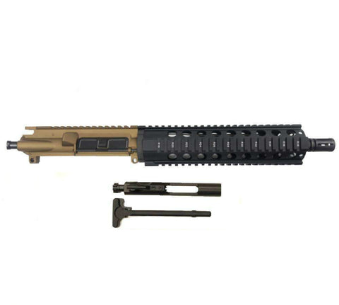 "AR-15 Upper Assembly, 10.5"" Stainless Barrel, 10"" Quad Rail"