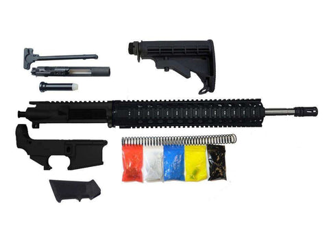 "AR-15 Rifle Kit, 16"" Stainless Barrel 12"" Quad Rail, With 80% Lower"