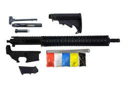 "AR-15 Rifle Kit, 16"" Stainless Barrel 15"" Quad Rail, With 80% Lower"