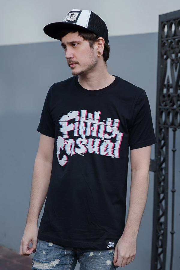 Anomaly Black T-Shirt - Filthy Casual Co.