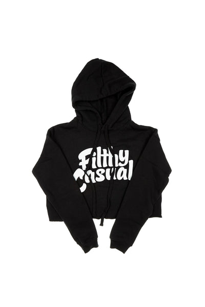 Black Crop Hoodie - Filthy Casual Co.