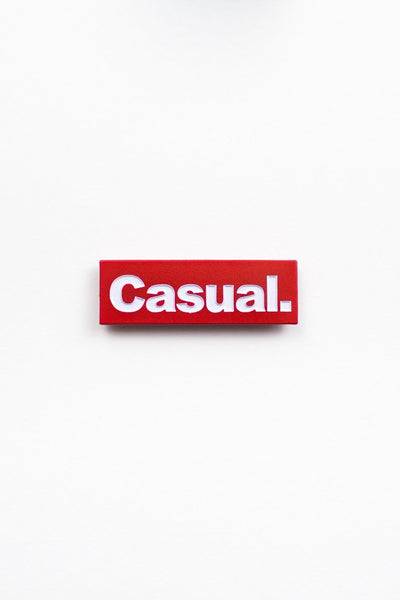 Casual Block Pin - Filthy Casual Co.