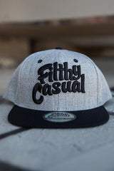 Classic Black Snapback - Filthy Casual Co.
