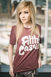 Cranberry Triblend T-Shirt - Filthy Casual Co.