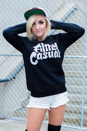 Filthy Casual Black Crewneck - Filthy Casual Co.