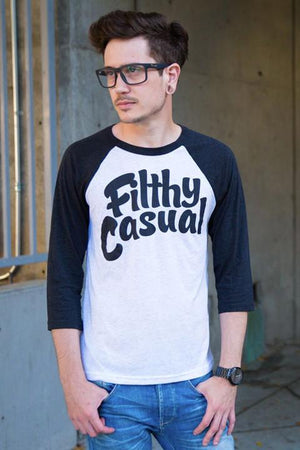 Filthy Casual Charcoal Raglan - Filthy Casual Co.