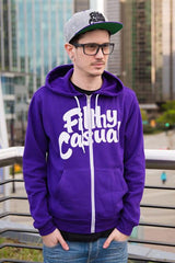 Filthy Casual Purple Zip Hoodie - Filthy Casual Co.