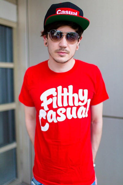 Filthy Casual Red T-Shirt - Filthy Casual Co.