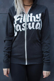 Lightweight Charcoal Zip Hoodie - Filthy Casual Co.
