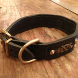 Bulldog Motif Antique Dog Collar