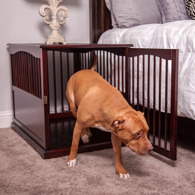Wood Dog Crate/ Side Table By Primetime