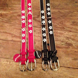 Lage and Medium Stars dog collars side by side