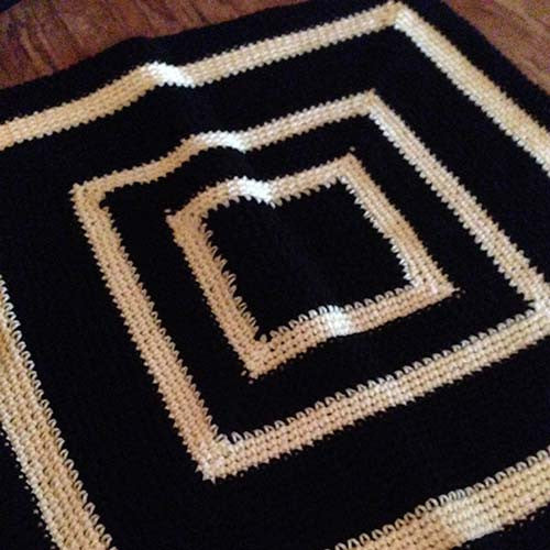 "Dogquette Blanket DO1044 Black/Pale Yellow 30""x30"""