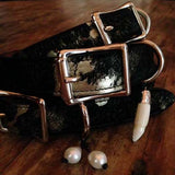 American Cowhide Acid dyed neutrals Blk/gold, embellished stack