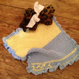 "The Teacups&Toys Blankets are a favorite among smallest of  Baby Bleu/ Pale Yellow 15""x15""   ur fans!"