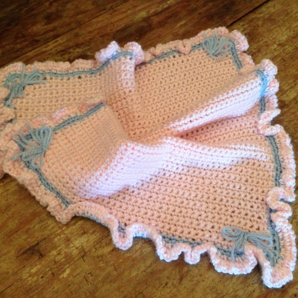 "Teacups&toys T&T211 Baby Pink/Baby Blue detail size 15""x17"""