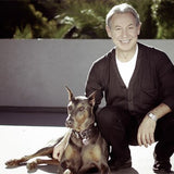 Mauro developer of all products with his dog